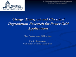 Charge Transport and Electrical Degradation Research for Power