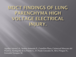 MDCT findings of lung parenchyma high voltage