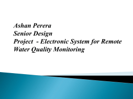 Remote Water Quality Monitoring System Model