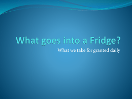 What goes into a Fridgex