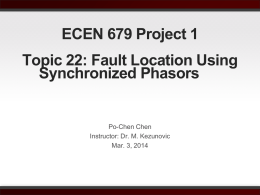 ECEN 679 Project 1 Topic 22: Fault Location