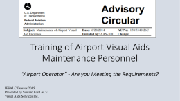 """Airport Operator"" - Are you Meeting the Requirements?"