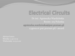 Electrical circuits wyklad 6x