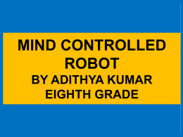 MIND CONTROLLED ROBOT