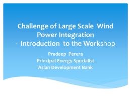 Challenge of Large Scale Wind Power Integration