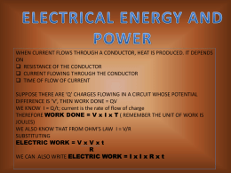 on Electrical Energy and Power