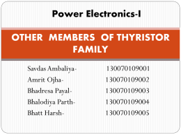 OTHER MEMBERS OF THYRISTOR FAMILY