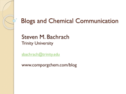 Blogs and Chemical Communication