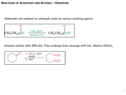 Reactions of Aldehydes and Ketones – Nucleophilic Addition
