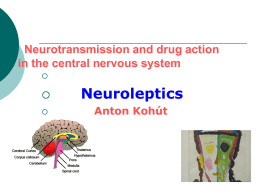 Chemical transmission and drug action in the central nervous