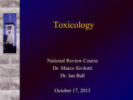 toxidrome - Emergency Medicine National Review Course