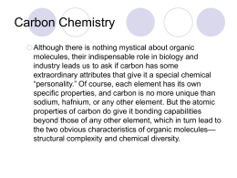 Intro to Organic Compounds