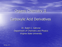 Organic Chemistry II Introduction