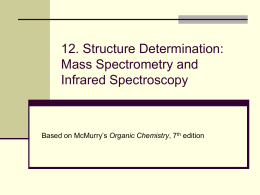 12. Structure Determination: Mass Spectrometry and