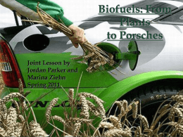 Biofuels: From Plants to Porches