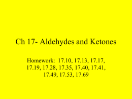 Ch 17- Aldehydes and Ketones
