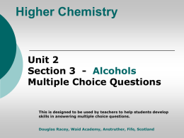Higher Chemistry Unit 2 - Section 1 Fuels Multiple Choice