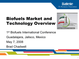Bioenergy Market Overview - 1er CONGRESO INTERNACIONAL …