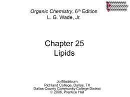 Chapter 25 Lipids - Inver Hills Community College