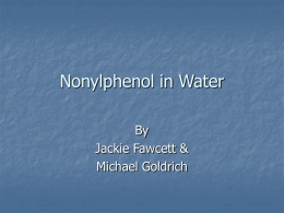 Nonylphenol in Water - Northwestern University