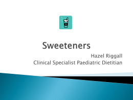 Sweeteners - Alstrom Syndrome UK