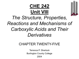 Chapter 25 Lipids - Welcome to Terry Sherlock's Web Site