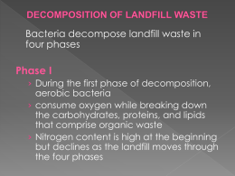 DECOMPOSITION OF LANDFILL WASTE
