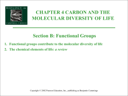 functional groups - Beal Science Dept.