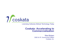 Bolsen – Coskata - Ascension Publishing