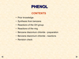 m4 phenol and diazo salts