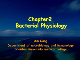 Chapter2 Bacterial Physiology