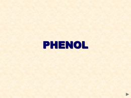 PHENOL - REACTIONS OF THE AROMATIC RING