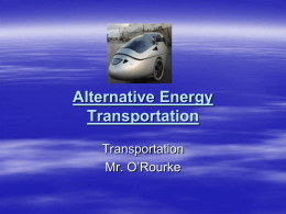 Alternative Energy Transportation