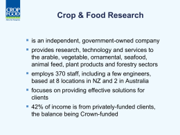Crop & Food Research - Centre for Energy Research