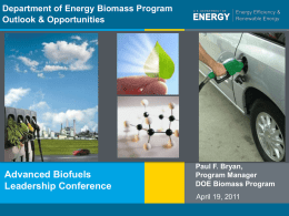 Advanced Biofuels - Ascension Publishing