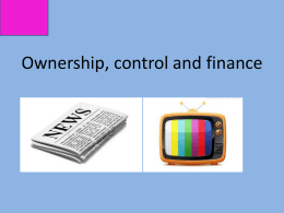 TV- Ownership, control and finance- BBC Trust
