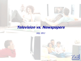 Television vs. Newspapers - Television Bureau of Canada