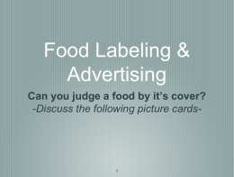 Food Labeling & Advertising