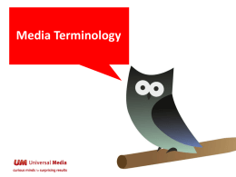 Traditional Media Terminology