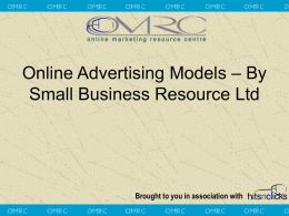 Online Advertising Models