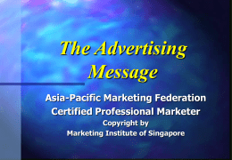 The Advertising Message