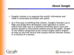 Google Adwords - PPT