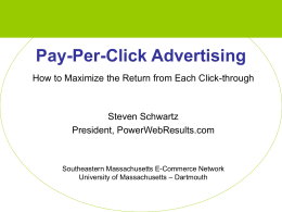 Pay-Per-Click Advertising - University of Massachusetts