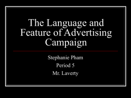 The Language of Advertising Campaign