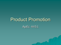 Product Promotion - University of Minnesota