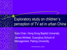 Exploratory study on children's perception of TV ad in