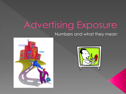Advertising Exposure