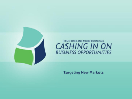 Targeting New Markets
