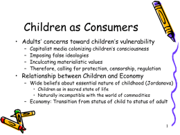Children as Consumers