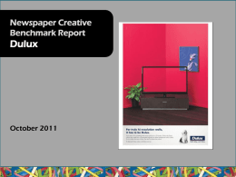 October 2011 Creative Benchmarking - Dulux